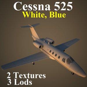 cessna 525 blu 3d max