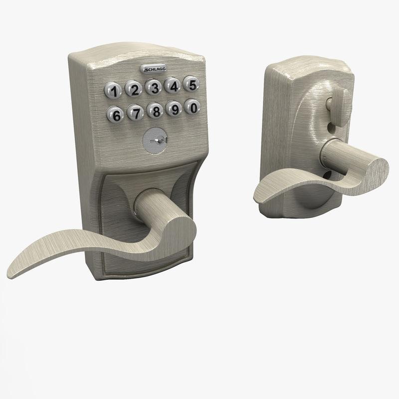 3ds keypad accent lever door lock