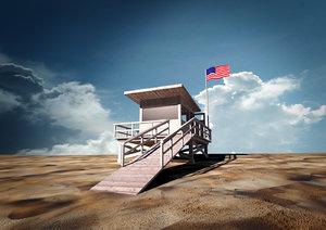 3dsmax lifeguard station