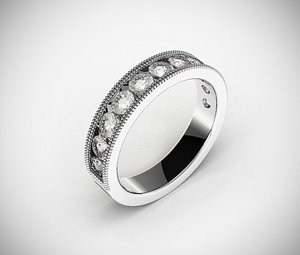 classic male wedding ring 3d model