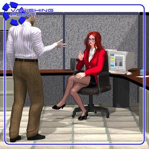 3d furniture office