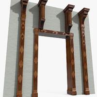 Manor WalkThrough Wooden Frame Door framework rim chassis cradle