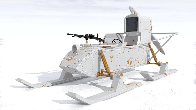 3d model sled