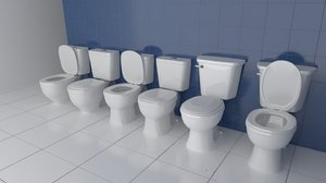 sets toilets 3d model