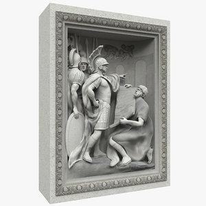 3d trevi fountain sculpture 2