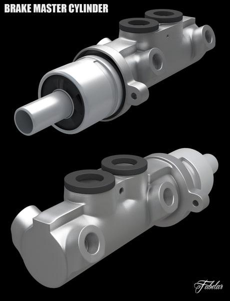 3d master brake cylinder