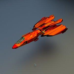 3d model of space cruiser