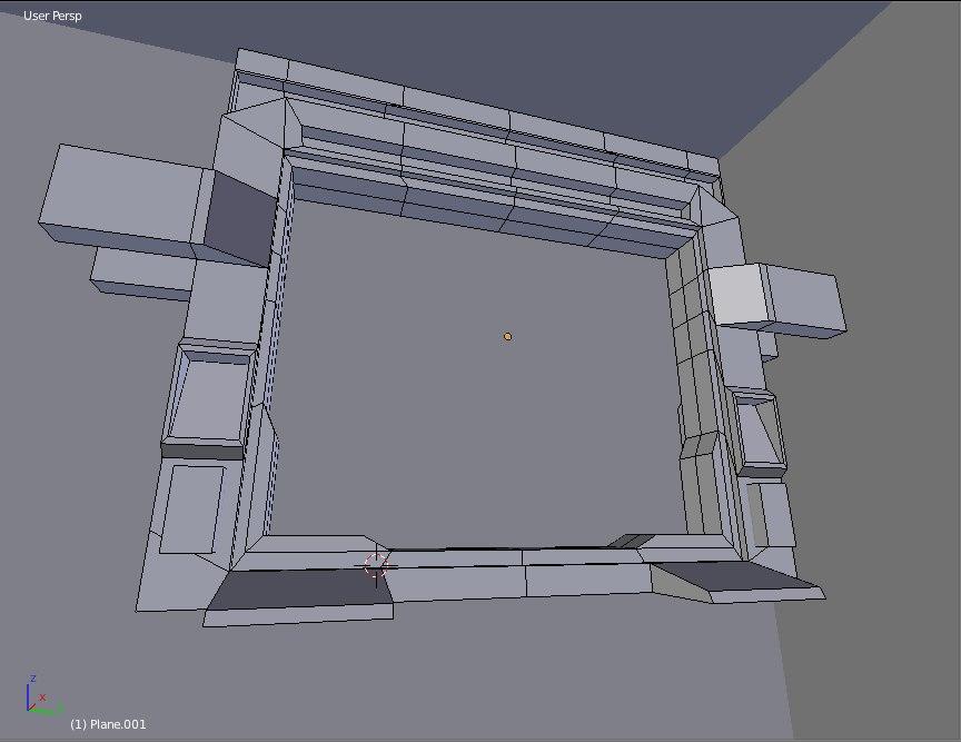 3d sci fi door model