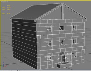apartment building interior 3d model