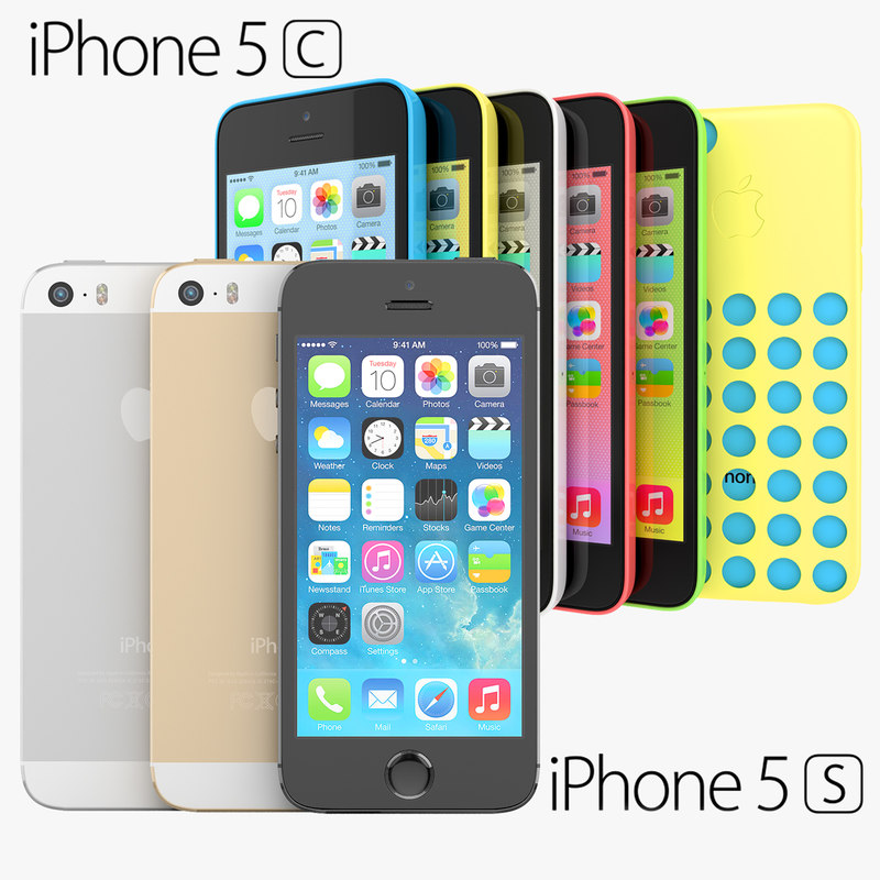 apple iphone 5s 5c 3d max