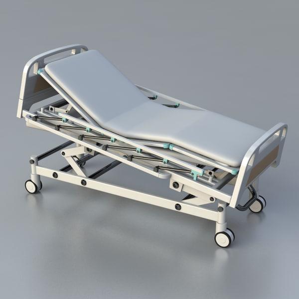 3d icu hospital bed