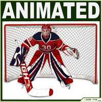 Hockey Player Goalkeeper CG