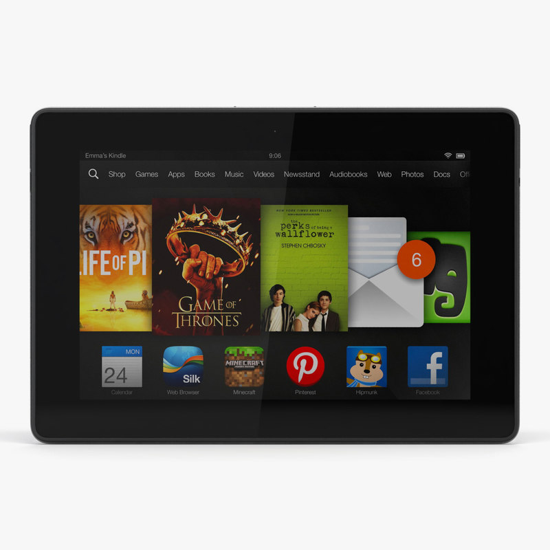 amazon kindle hdx 7 3d model