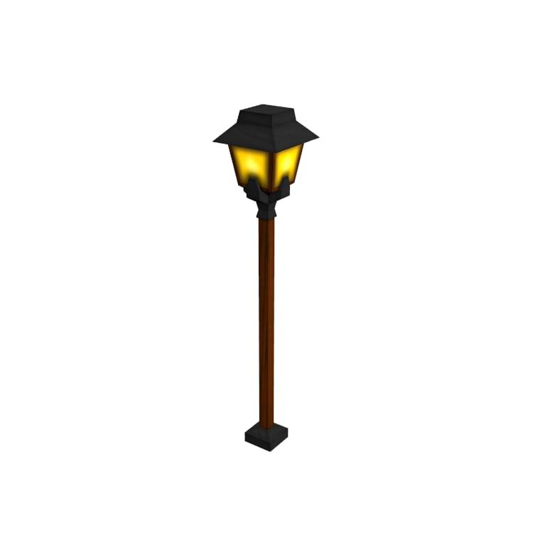 3d medieval street lamp model