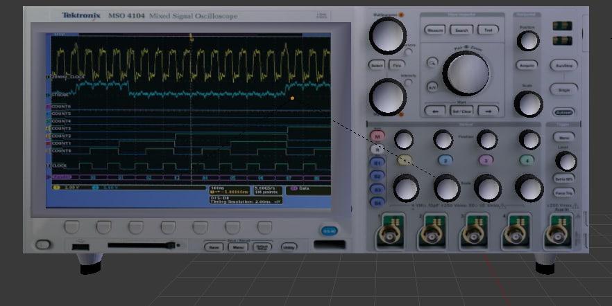 3d model oscilloscope