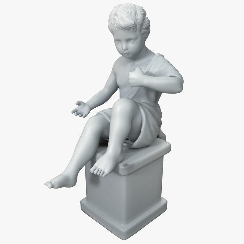 statuette 13 3d max