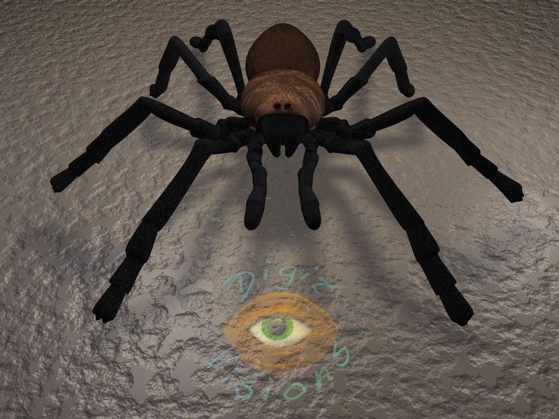 3d tarantula spider model