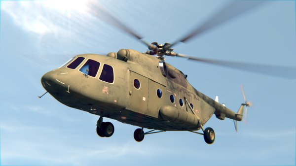 mi-17 helicopter chopper 3ds