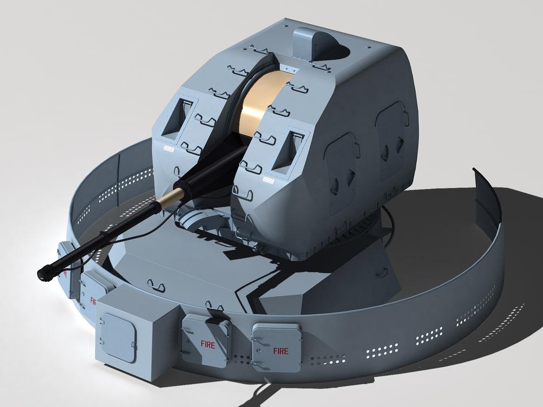 a-190e gun mount 3d model