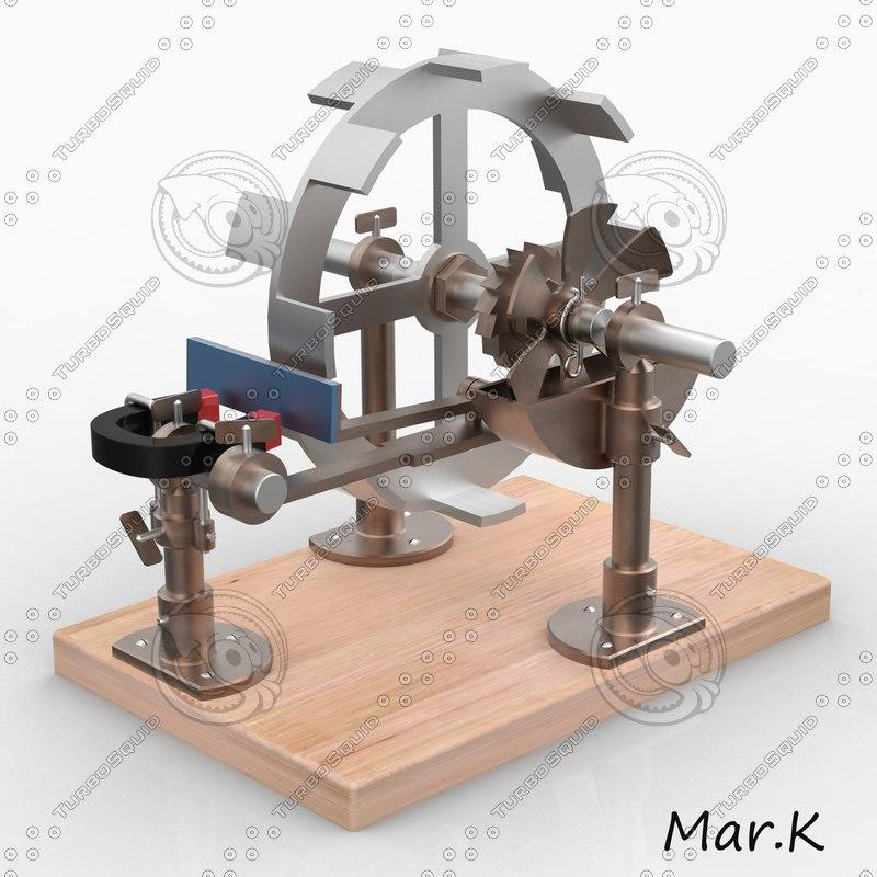 perpetuum mobile magnetic 3d c4d