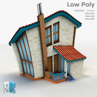 fantasy building 3d model