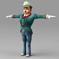3ds man captain human