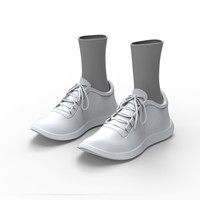Sports shoe with socks