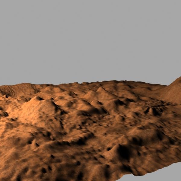 3d model desert terrain