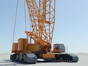 3d heavy crawler crane terex model