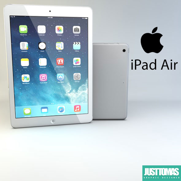 3d c4d apple ipad air