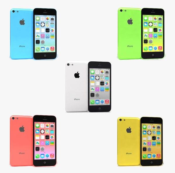 3ds max apple iphone 5c colors
