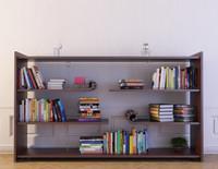 bookshelf 23 books 3d model