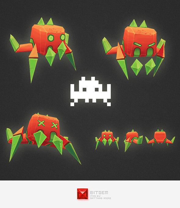 ma space invader alien