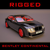 3d model of bentley continental supersports