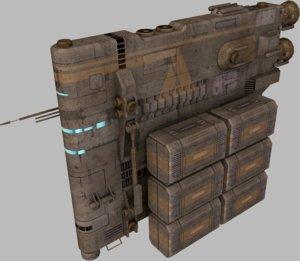 3d cargo hauler model