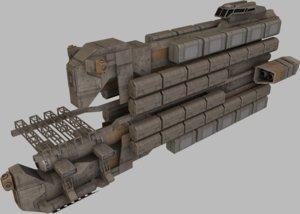 3d cargo freighter model