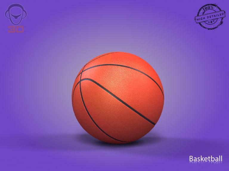 basketball modeled 3d 3ds