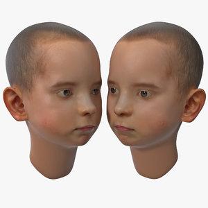 boy head 3d 3ds