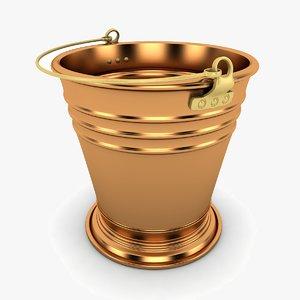 3d model bucket modeled