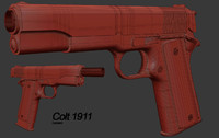 3d 3ds pure colt m1911 reference