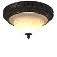 Crystorama 7400-BU Norwalk 3 Light Flush Mount Ceiling Fixture Bronze Umber