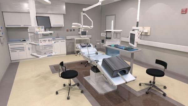 3d endoscopy room model