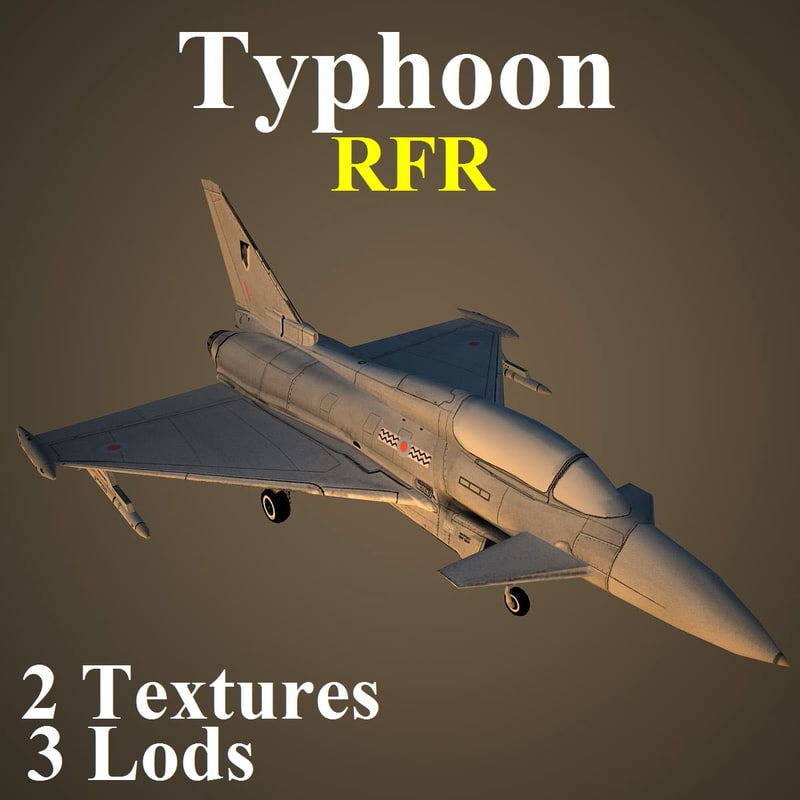 eurofighter typhoon rfr 3d model