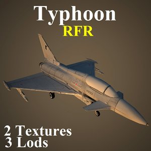 eurofighter typhoon rfr 3d model