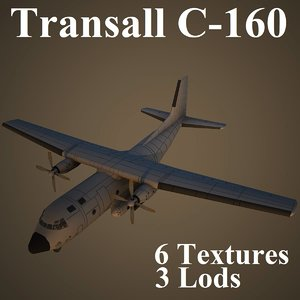 3d model of transall air low-poly