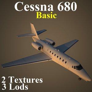 cessna 680 basic aircraft max
