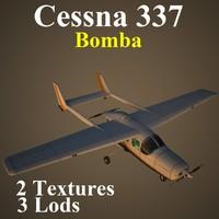 3d cessna 337 bom model