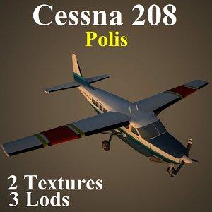3d model cessna 208 uup