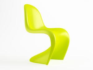3d model panton chair