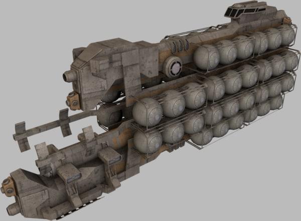 ships fuel hauler 3d 3ds